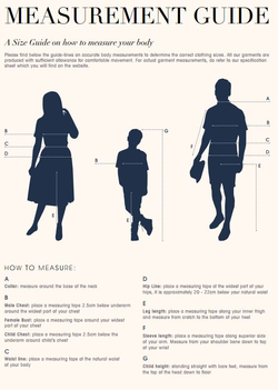 Sizing & Measuring Up - A Guide